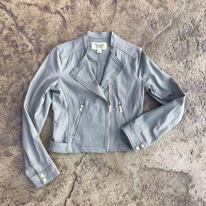 Maralyn & Me Khaki Cotton Moto Jacket